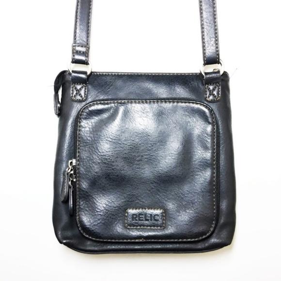 Relic Handbags - Relic Leather Crassbody Purse Black S Bag Zippep